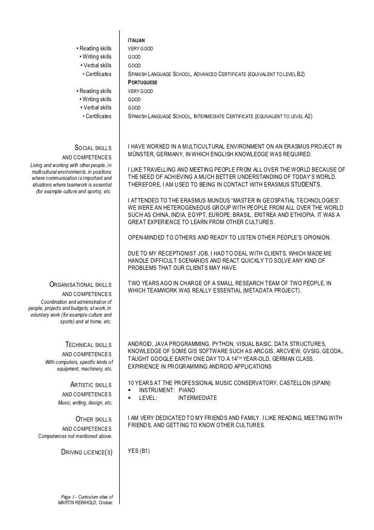 information technology resume sample. cover letter language skills ...