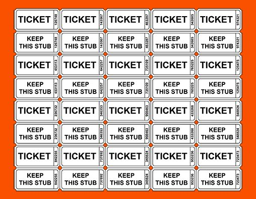 11+ free printable ticket templates | Survey Template Words