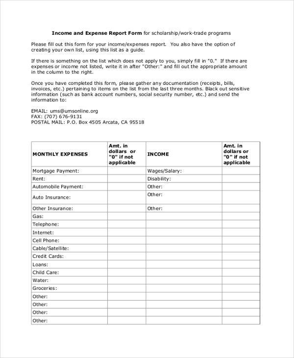 Sample Expense Report Form - 13+ Free Documents in PDF, Doc