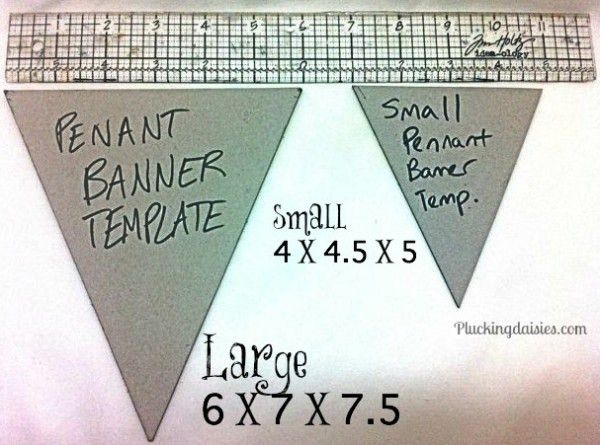 Creating a Pennant Template. For large Pennants measure 6 in ...