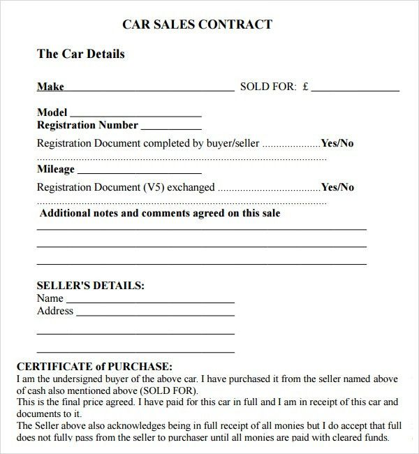 Sales Contracts. Sales Employment Contract Template Sales Contract ...