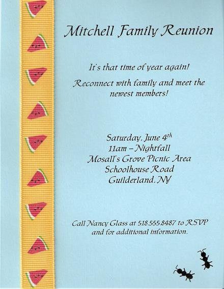 Family Reunion Invitation Letter | futureclim.info