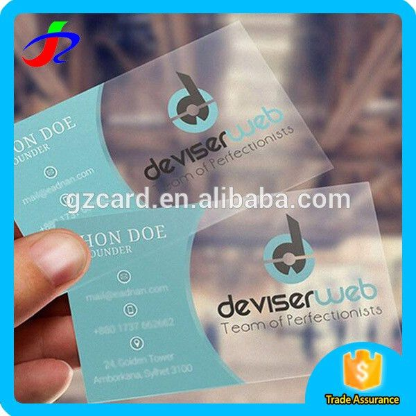 Free Sample Transparent Name Card Business Card Printing - Buy ...