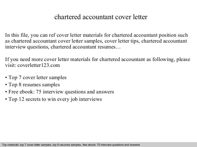 Example Cover Letter Chartered Accountant - Resume Acierta.us