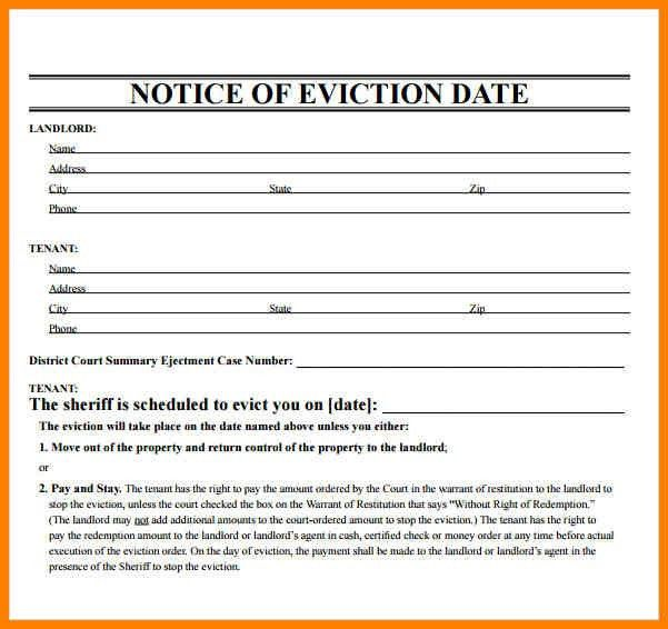 Eviction Notice Templates - cv01.billybullock.us
