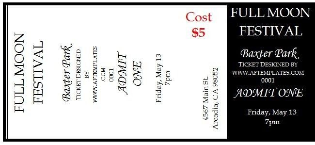 Editable Ticket Template Free | rubybursa.com