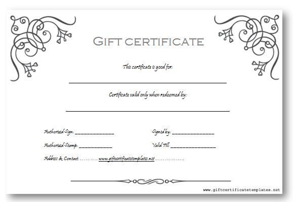 12 Best Images of Free Customizable Gift Certificate Template ...