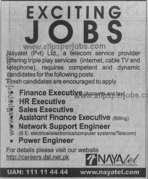 NayaTel pvt ltd jobs, Network Support Engineer, Power Engineer ...