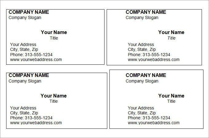 Free Business Cards Templates For Word | Best Template Examples