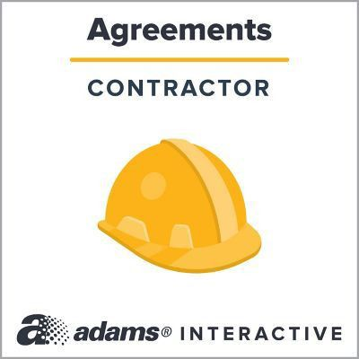 Adams® Construction Contract, 1-Use Interactive Digital Legal Form ...