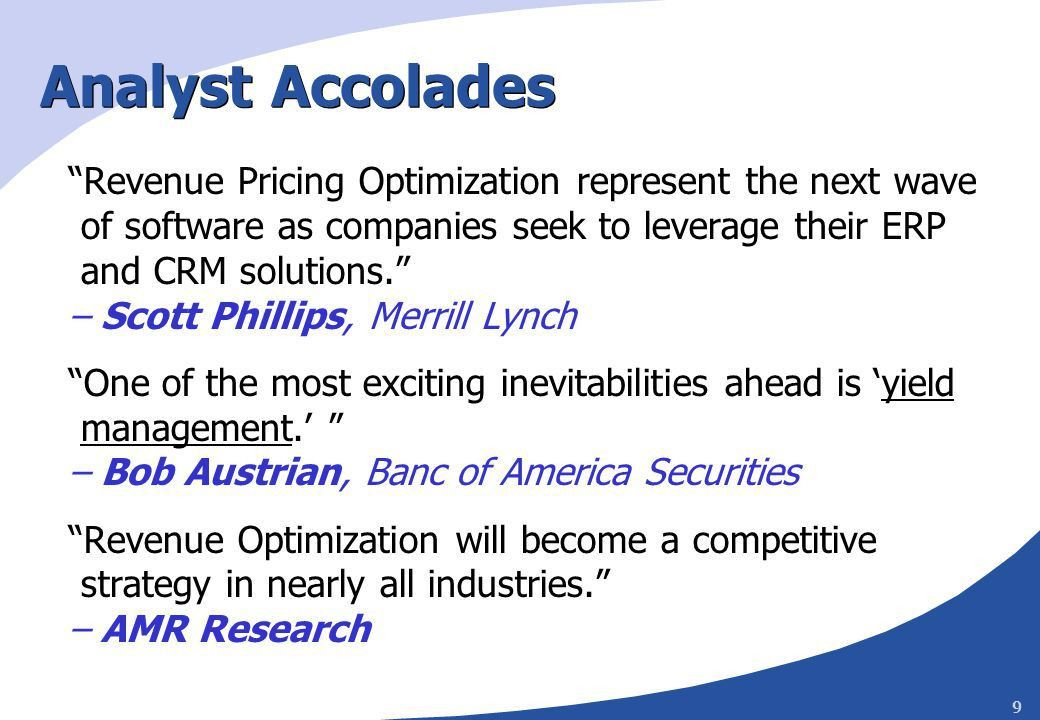 1 Revenue Management and Dynamic Pricing: Part I E. Andrew Boyd ...