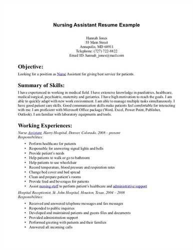 Resume Examples Nursing Objective Samples With Regard To 23 ...