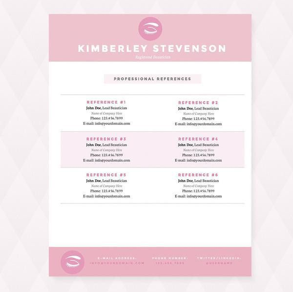 Makeup Artist Resume, Cover Letter & Reference Template Package ...