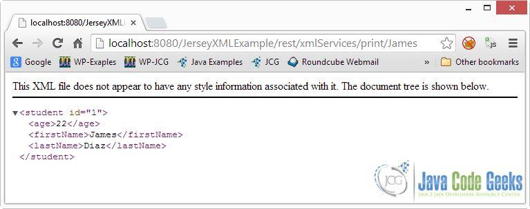 XML Example With Jersey + JAXB | Examples Java Code Geeks - 2017