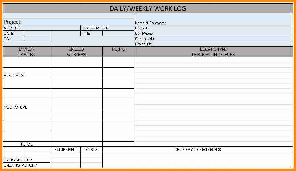 14+ daily report format for construction site | musicre sumed