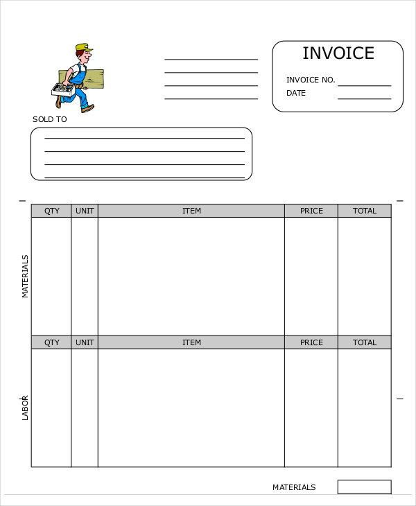 8+ Carpenter Invoice Templates - Free Sample, Example Format ...