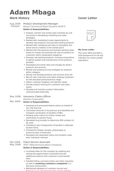 Product Development Manager Resume samples - VisualCV resume ...