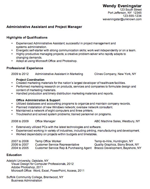 Sample Of Resume Objective – Okurgezer.co