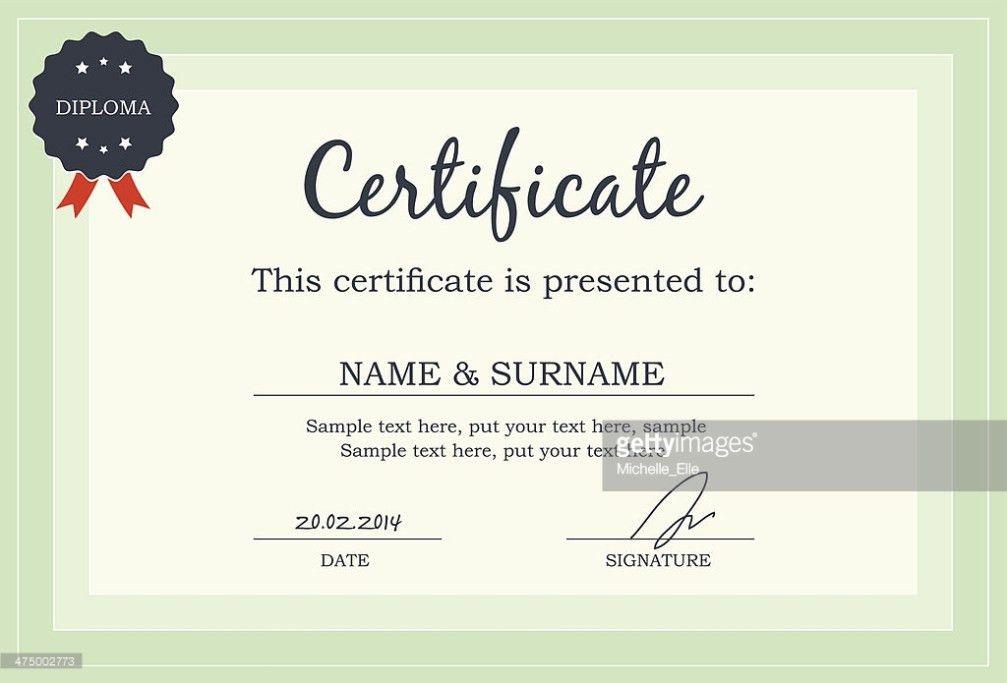 Certificate Diploma Template Vector Art | Thinkstock