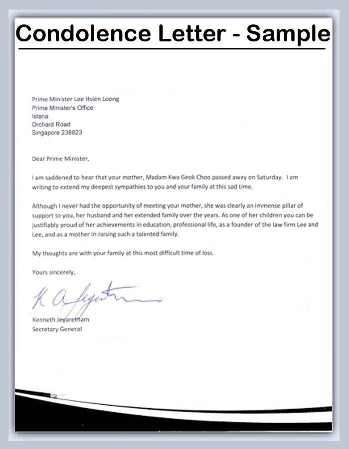 Amazing Formal Condolence Letter Gallery - Best Resume Examples ...