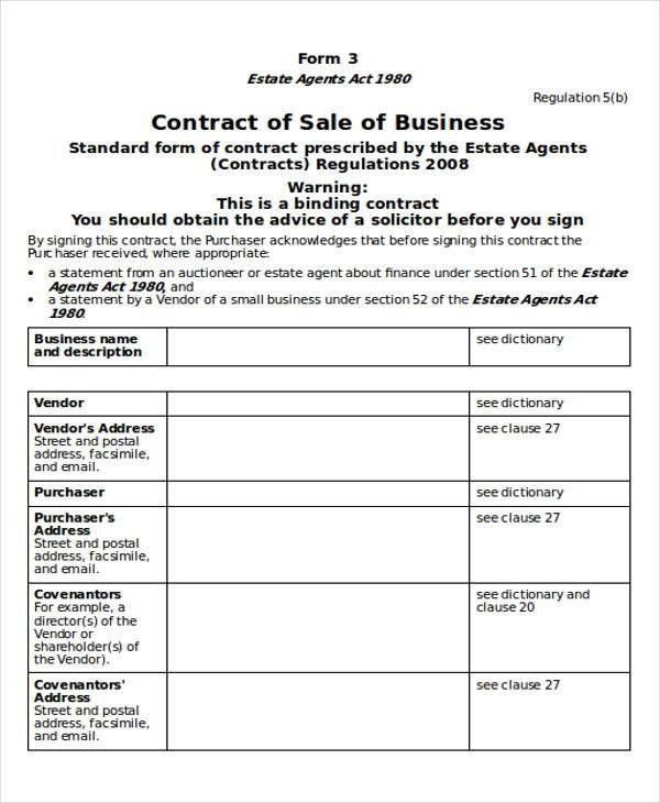 Contract Sample in Word - 12+ Examples in Word