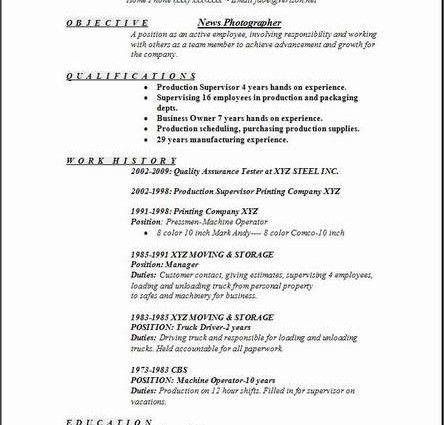 Sample Photographer Resume Template. Cv-Free-Resume-Template 112+ ...