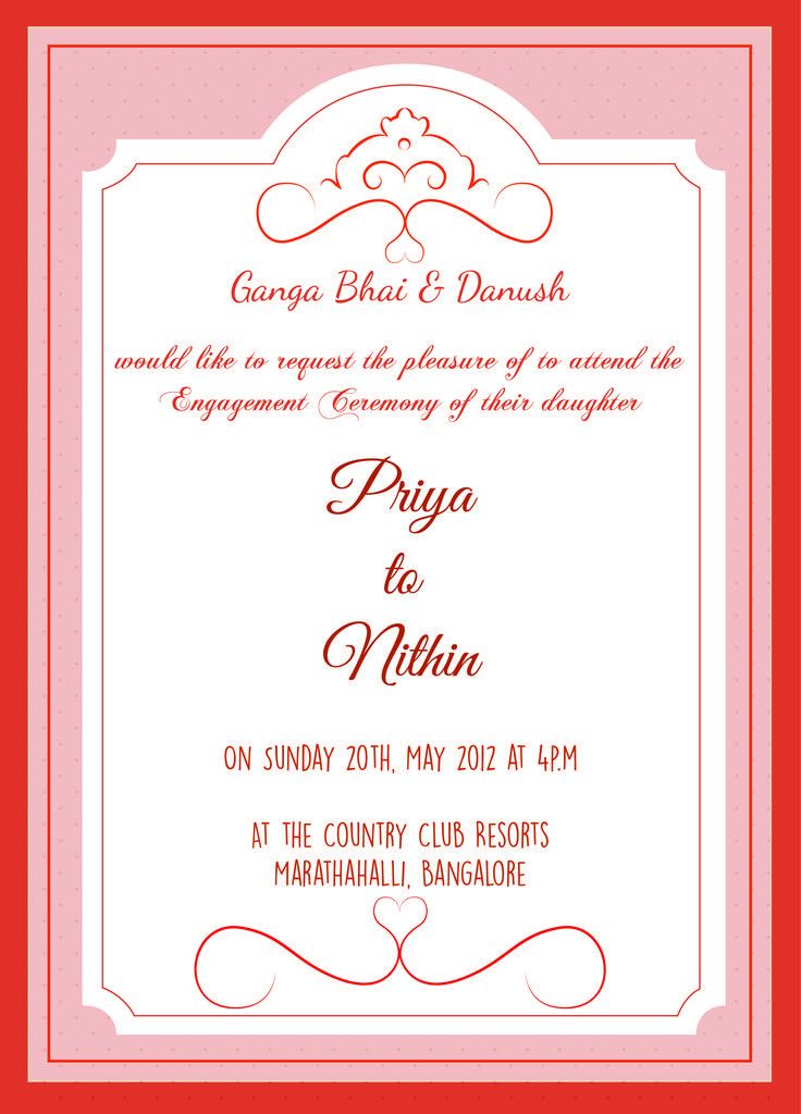 engagement invitation wording from bride and groom - Indian ...
