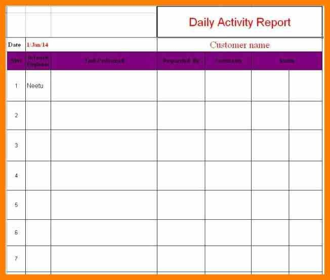 daily sales report format for real estate