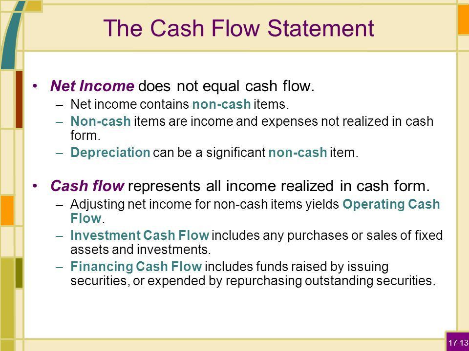 Projecting Cash Flow and Earnings - ppt video online download