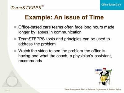 TeamSTEPPS for Office-Based Care: Teaching and Coaching | Agency ...
