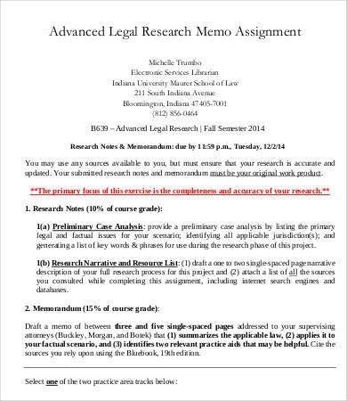 Legal Memo Template - 5+ Free Sample, Example, Format | Free ...