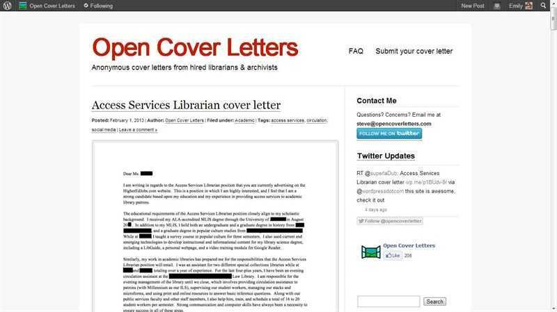 Cover Letter Opening Sentence Examples: