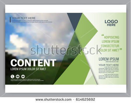 Blue Background Brochure Flyer Cover Page Stock Vector 450946879 ...