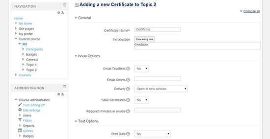 How to Add a Course Completion Certificate in Moodle