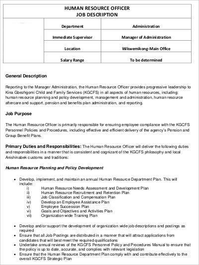 Human Resource Job Description. Mobile Application Testing Job ...