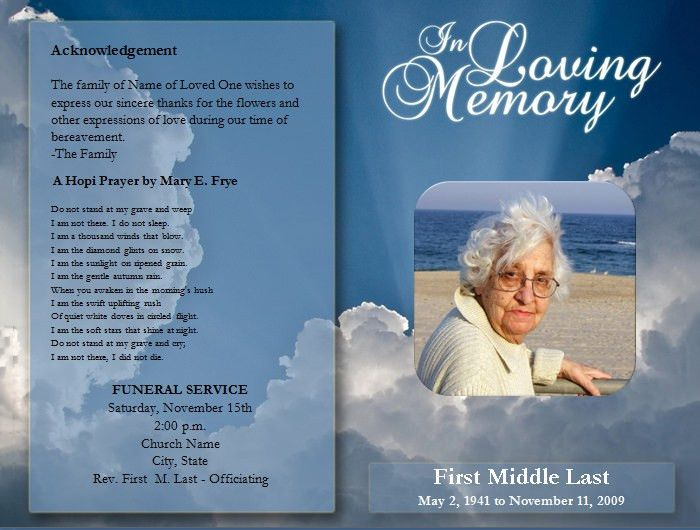 10 Best Images of Free Funeral Program Templates - Free Sample ...