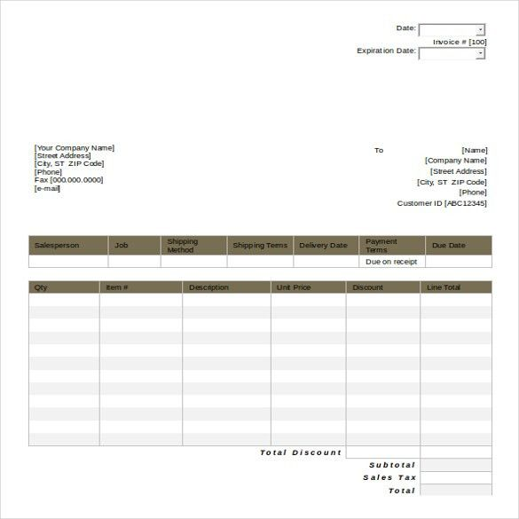 11+ MS Word 2010 Format Quotation Templates Free Download | Free ...