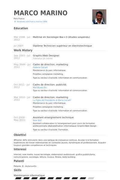 Graphic/Web Designer Resume samples - VisualCV resume samples database