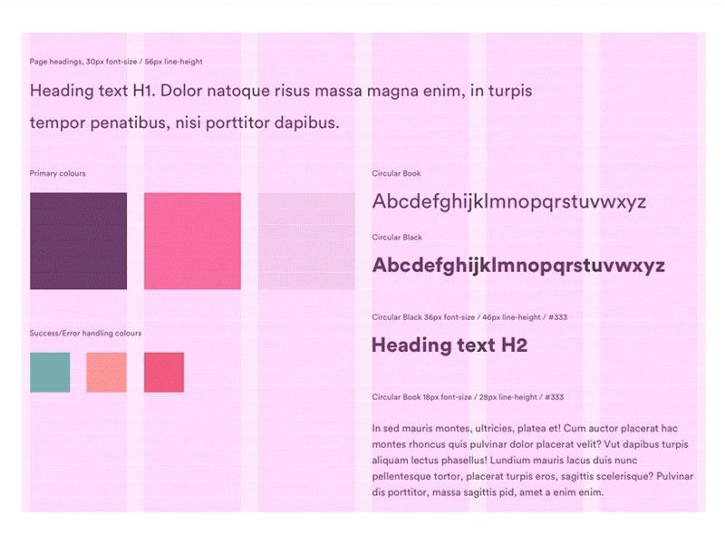 Style Guide Presentation Template Sketch freebie - Download free ...