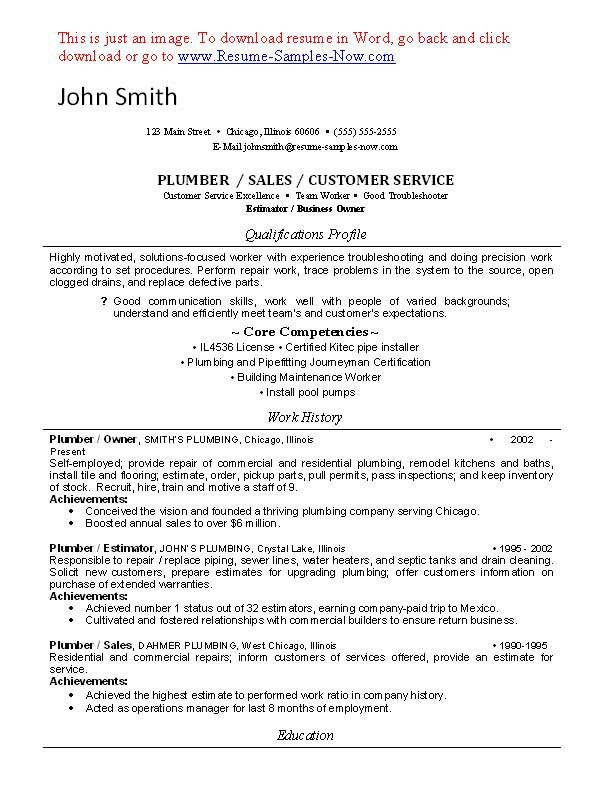 download plumber resume haadyaooverbayresortcom
