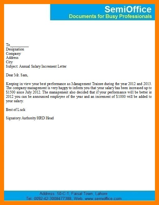 8+ pay increment letter | coaching-resume