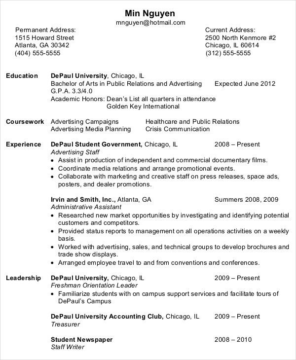 Beginner Resume Template. Entry Level Administrative Resume ...