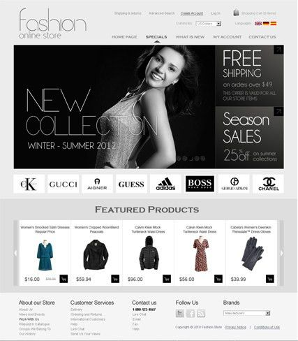 Fashion v2.3 Oscommerce Theme | Best Website Templates