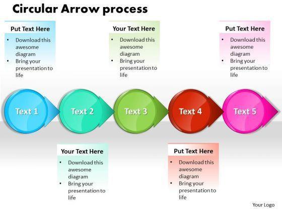 Ppt Circle Arrow Free Business Presentation Process Flow Chart ...