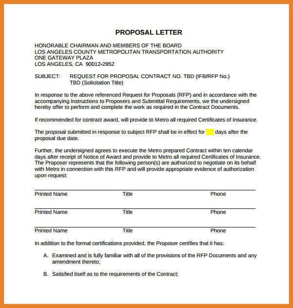Proposal Letter. Professional Business Proposal Letter To Client ...
