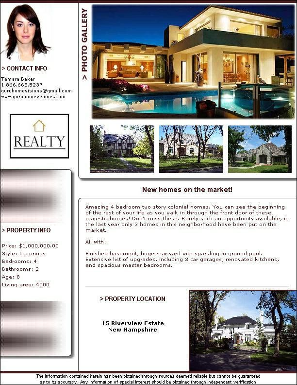 Real Estate Flyer Templates (PDF Format) Brochure Templates