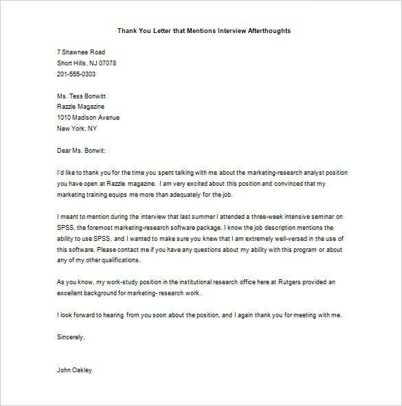 Marketing Thank You Letter – 7 +Free Sample, Example Format ...