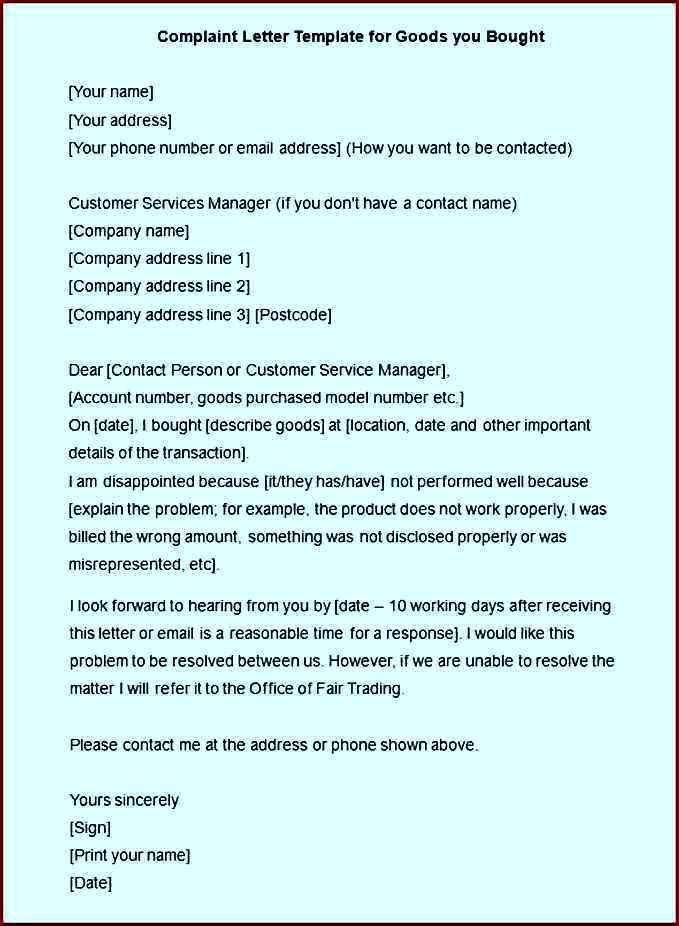 Complaint Letter Resolution for Employees Word Example - Template ...