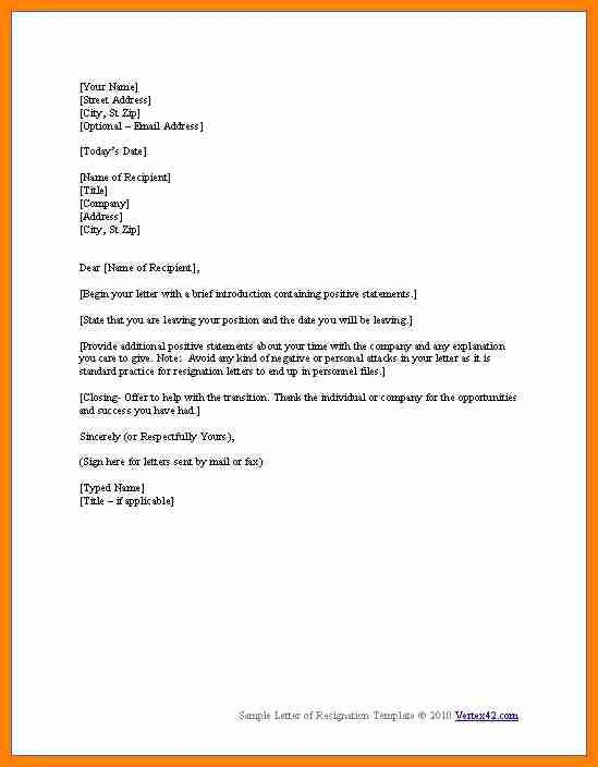 9+ resignation letter example with one month notice | forklift resume