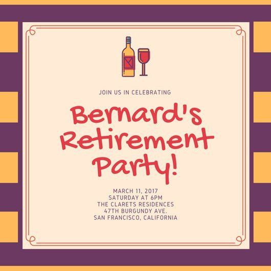 Retirement Party Invitation Templates - Canva